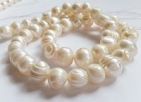 Cream Freshwater Potato Pearls 7mm approx. for jewellery making, bridal tiaras